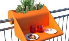 独具创意的便携雕栏边桌